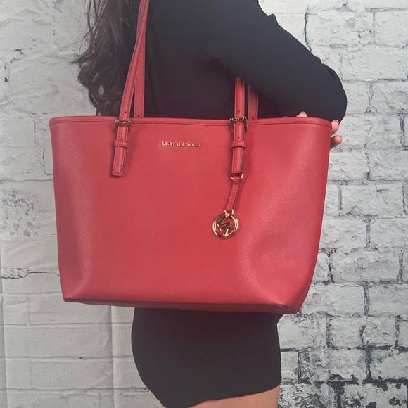 92ee07644c52 Michael Kors Bags | Nwt Jet Set Travel Scarlet | Poshmark